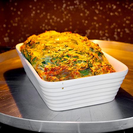 Omelete ao forno com espinafre