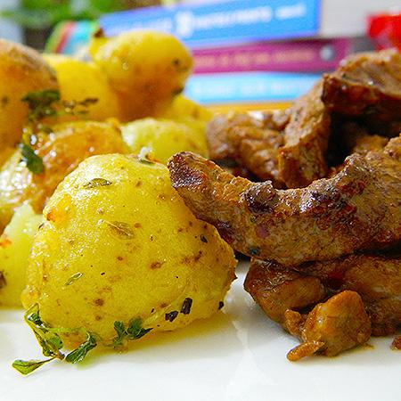Batatas douradas do Jamie Oliver