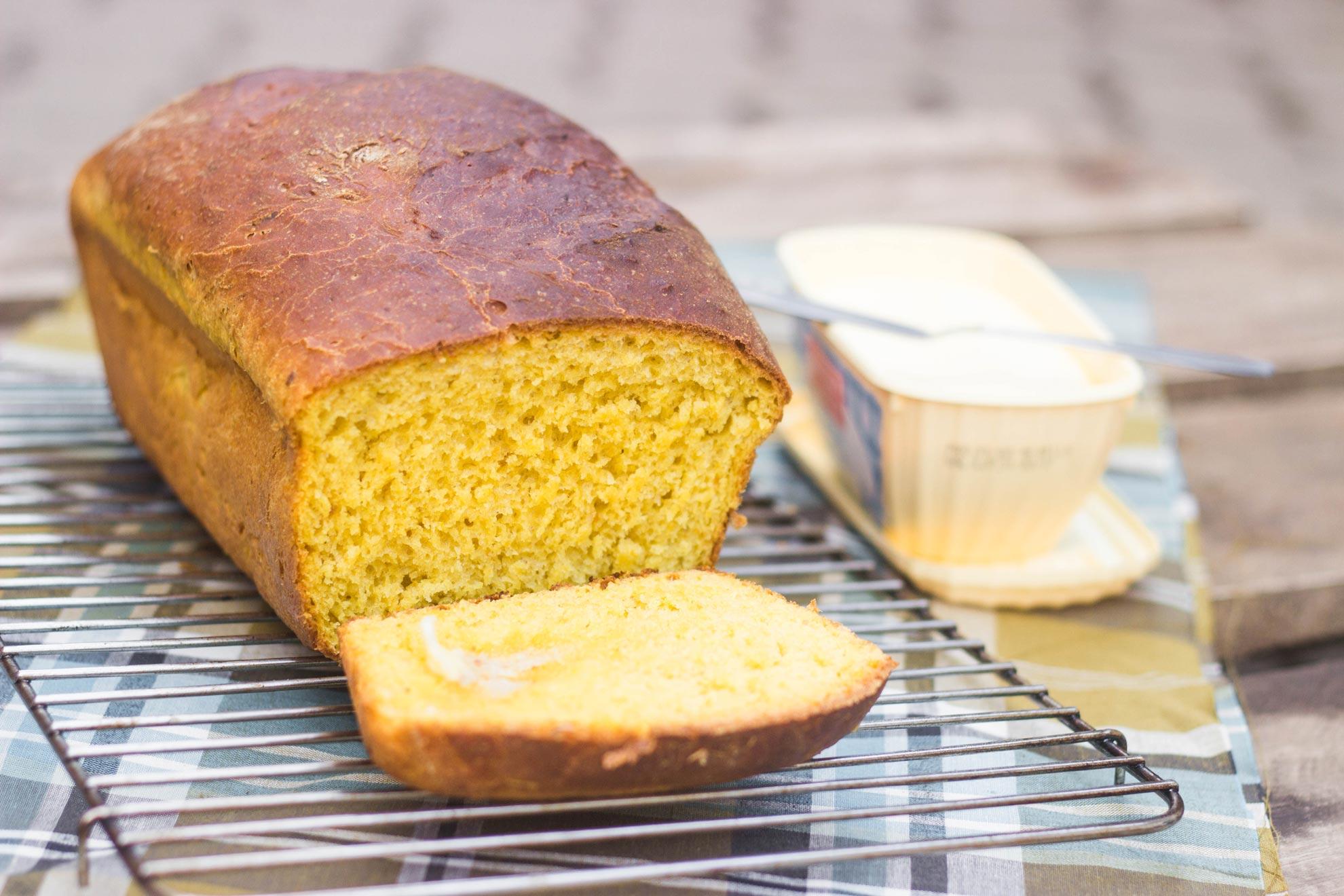 Pão de abóbora ou moranga cabotiá