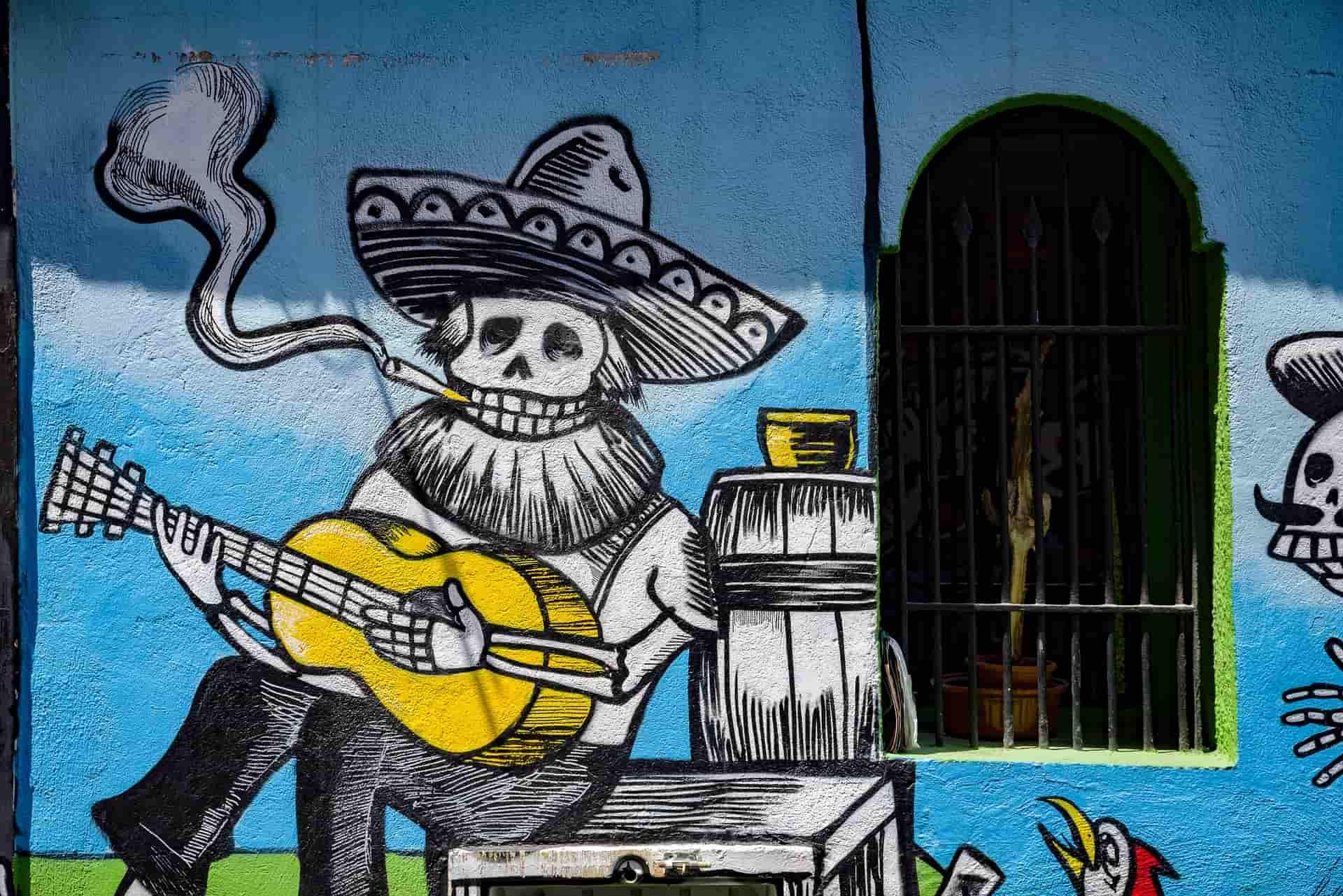 Dia de los muertos para celebrar a culinária mexicana