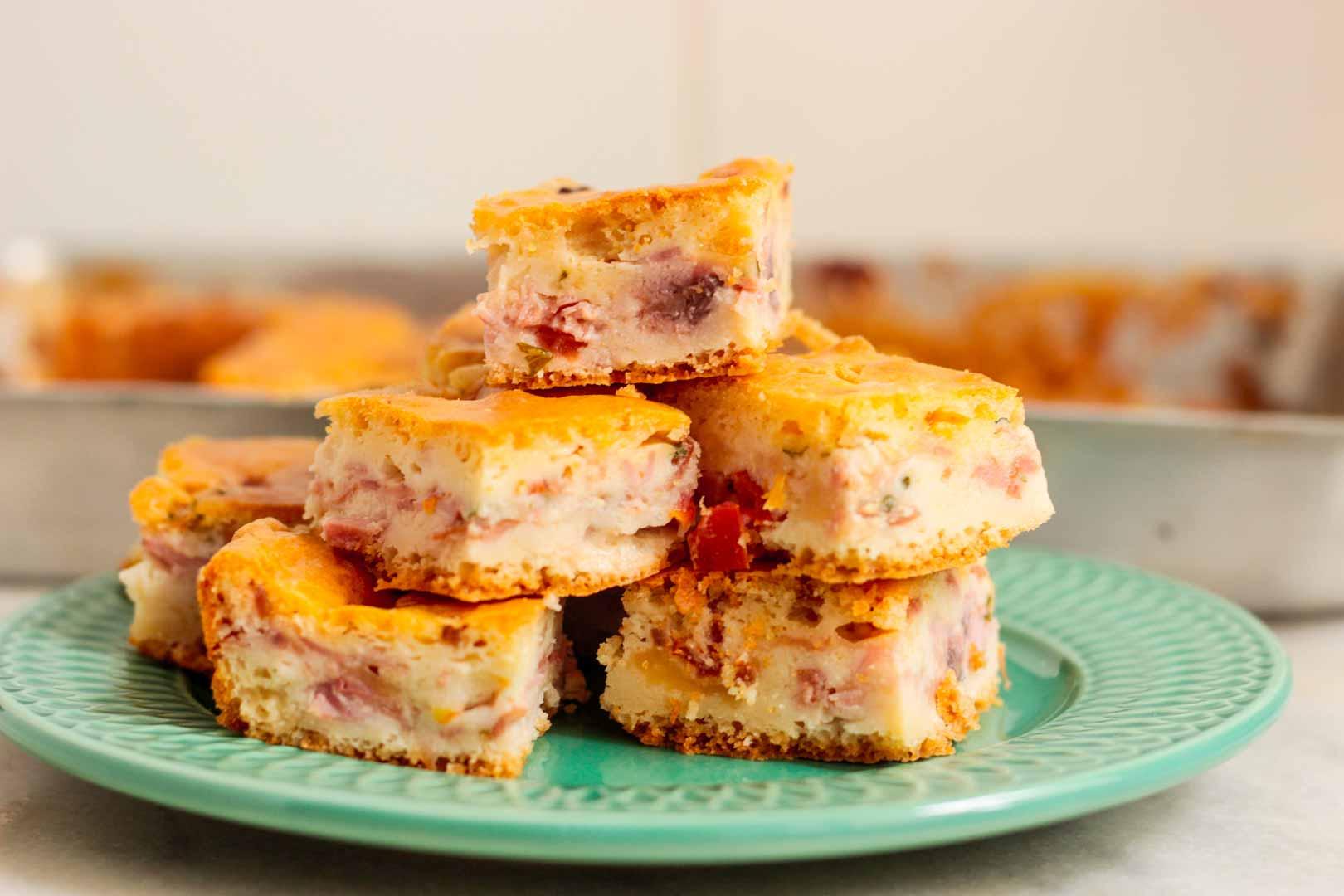 Torta de liquidificador com presunto e queijo